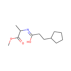 l-Alanine, N-(3-cyclopentylpropionyl)-, methyl ester