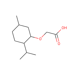 Levo-menthoxyacetic acid