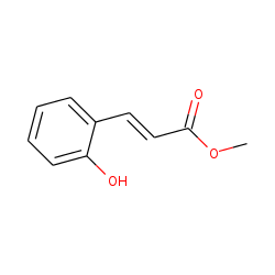 trans-2-Hydroxycinnamic acid, methyl ester