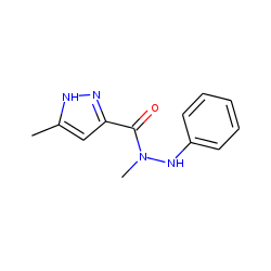 5-Methyl-2H-pyrazole-3-carboxylic acid, 1-methyl-2-phenylhydrazide