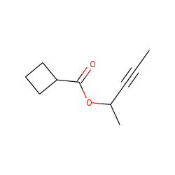 Cyclobutanecarboxylic acid, but-3-yn-2-yl ester