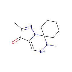 Pyrazolo[1,5-d][1,2,4]triazin-3-one, 2,6-dimethyl-7,7-pentamethylene
