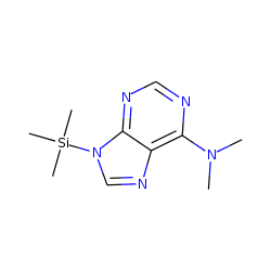 9H-Purin-6-amine, N,N-dimethyl-9-(trimethylsilyl)-