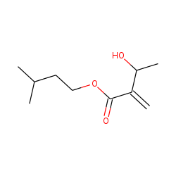 Isopentyl 3-hydroxy-2-methylenebutanoate