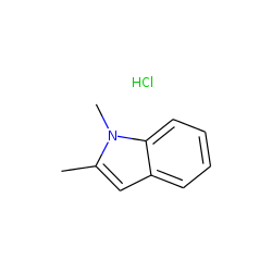 Indole, 1,2-dimethyl-, hydrochloride