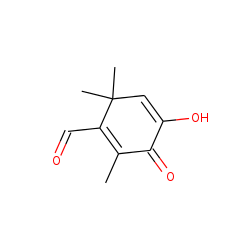 4-Hydroxy-2,6,6-trimethyl-3-oxocyclohexa-1,4-dienecarbaldehyde