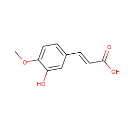 3-Hydroxy-4-methoxycinnamic acid