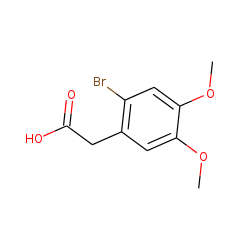 2-Bromo-4,5-dimethoxyphenylacetic acid