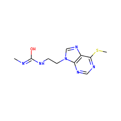 Urea, 1-methyl-3-[2-[6-(methylthio)-9h-purin-9-yl]ethyl]-