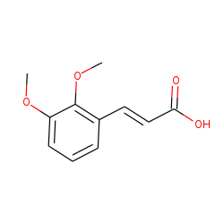 2-Propenoic acid, 3-(2,3-dimethoxyphenyl)-, (E)-