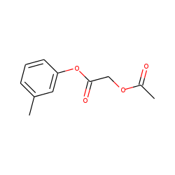 Acetoxyacetic acid, 3-methylphenyl ester