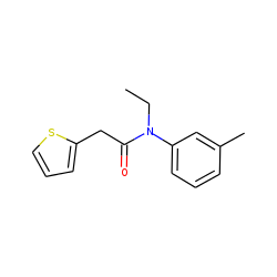 2-Thiopheneacetamide, N-ethyl-N-(3-methylphenyl)-