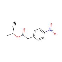 Benzeneacetic acid, 4-nitro-, but-3-yn-2-yl ester